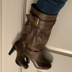 Zara brown leather boots, 38